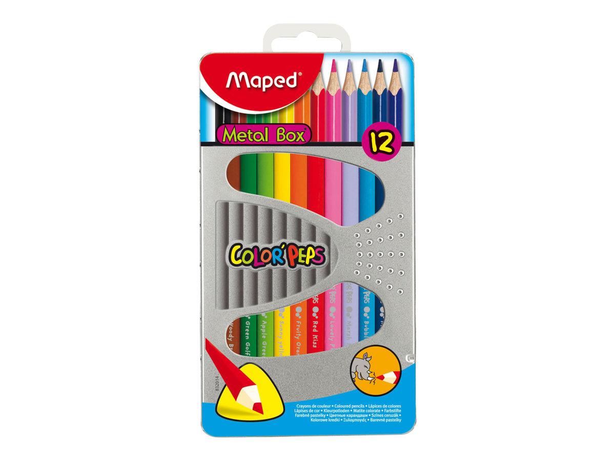 crayons de couleur metallique