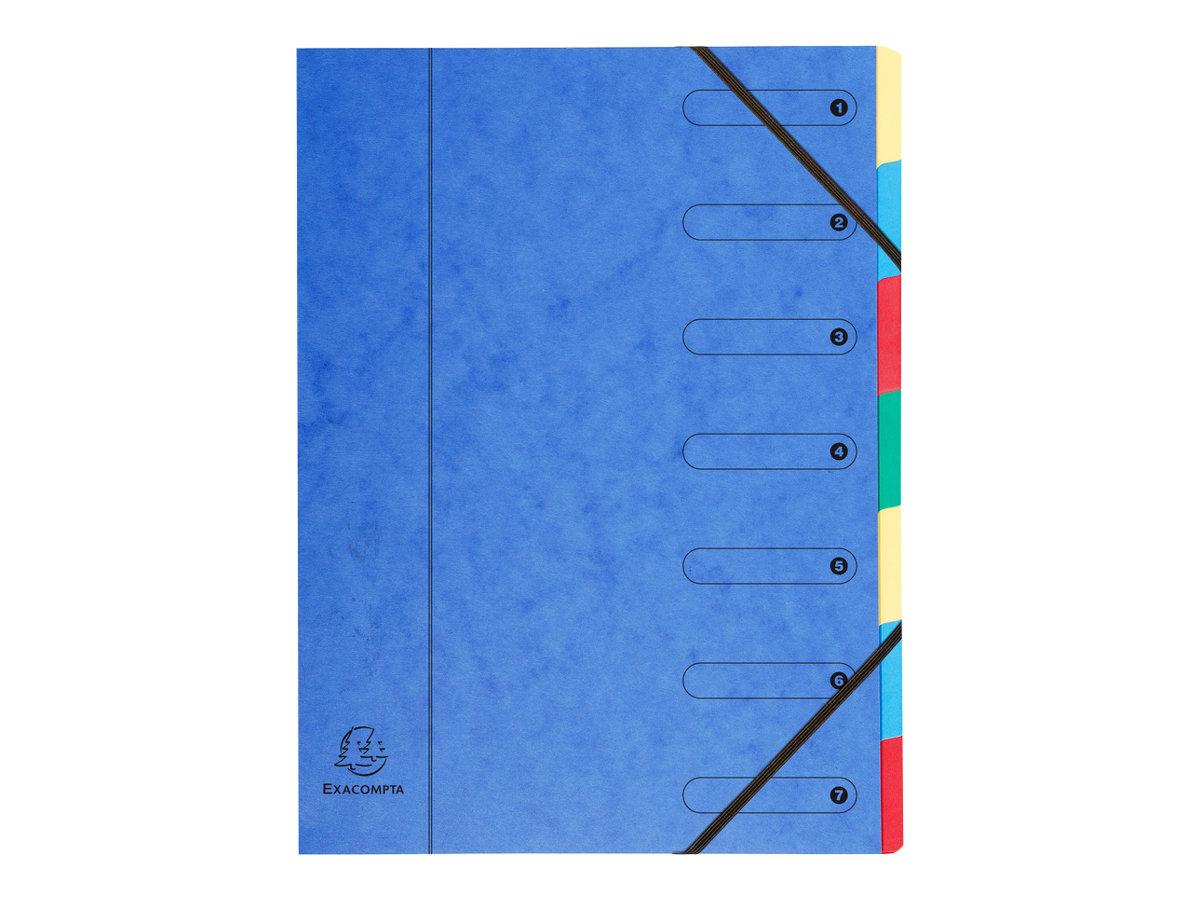Exacompta Nature Future Harmonika - Parapheur - 7 pochettes - 7 positions - A4 - couleurs tachetées assorties