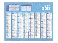 CBG Classique - Calendrier - septembre 2017 - décembre 2018 - 8 mois par page - 405 x 550 mm