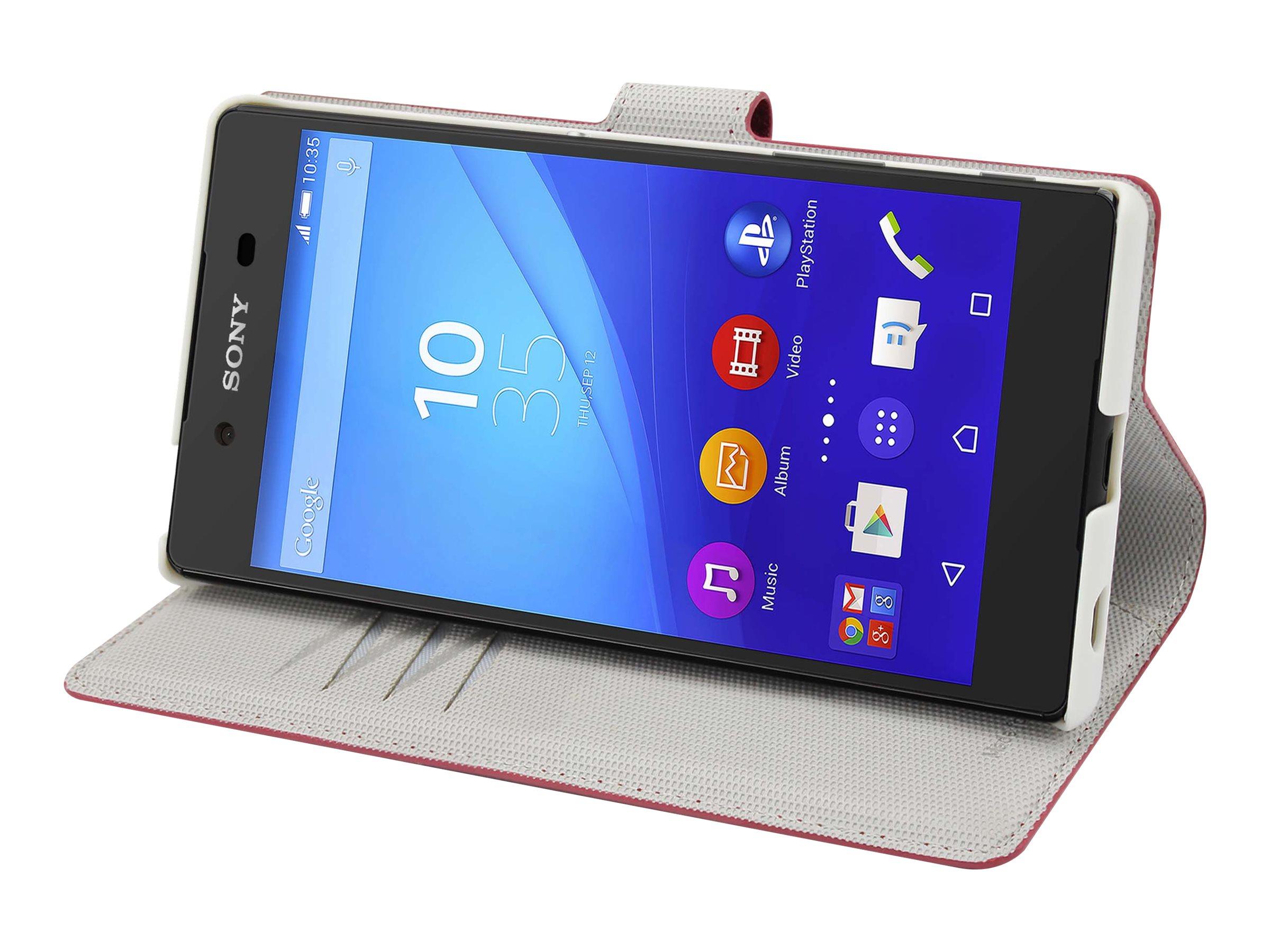 Muvit MFX Wallet Folio - Protection à rabat pour Sony XPERIA Z5 Premium - rouge