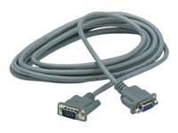 APC - Serial extension cable - DB-9 (M) to DB-9 (F) - 15 ft - gray - for P/N: SRV1KA-TW, SRV1KI-TW, SRV2KA-TW, SRV2KI-TW, SRV3KA-TW, SRV3KI-TW, SRV6KI-TW