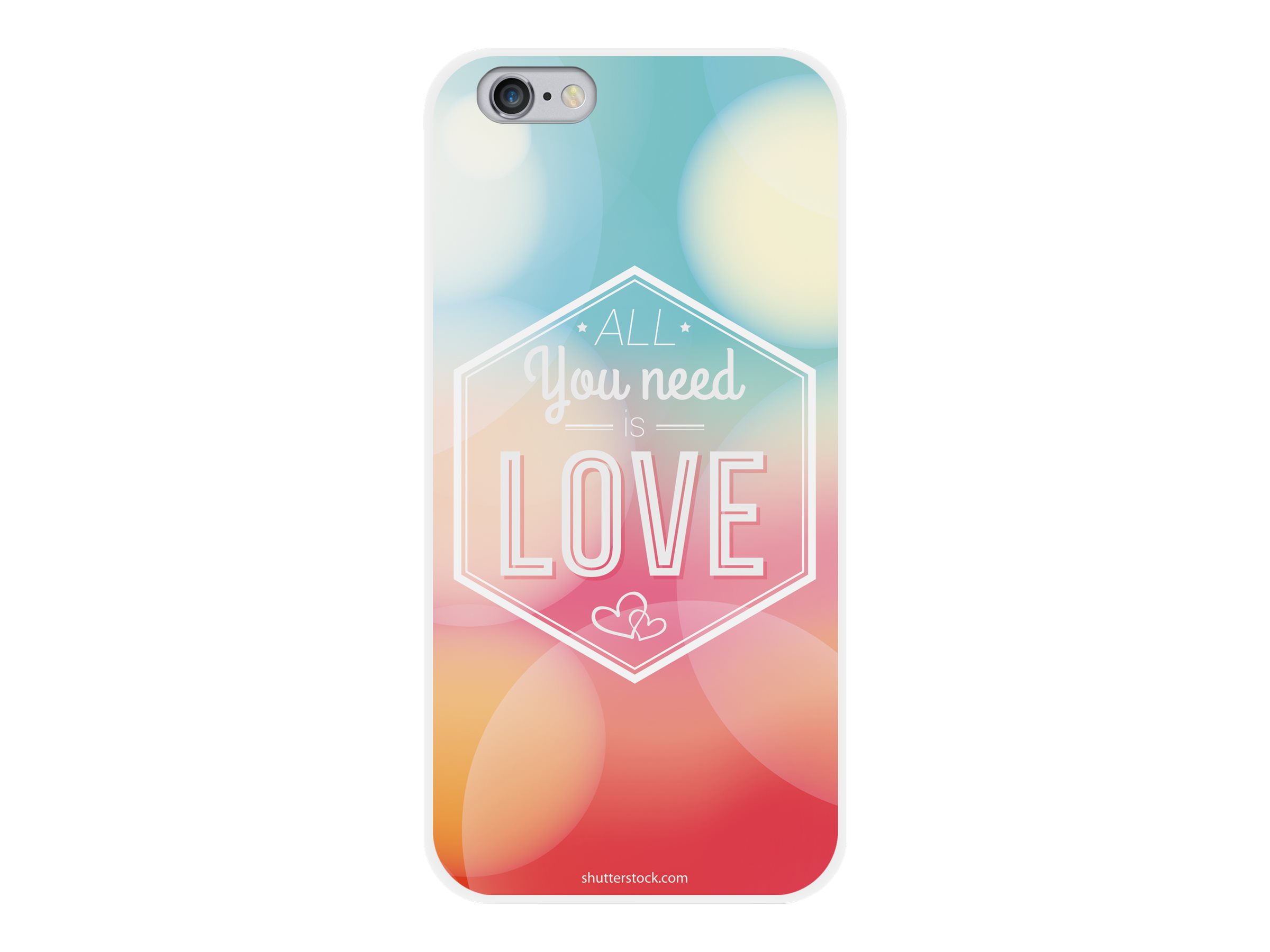 Muvit all you need - Coque de protection pour smartphone - blanc, bleu, rose - pour iPhone 6