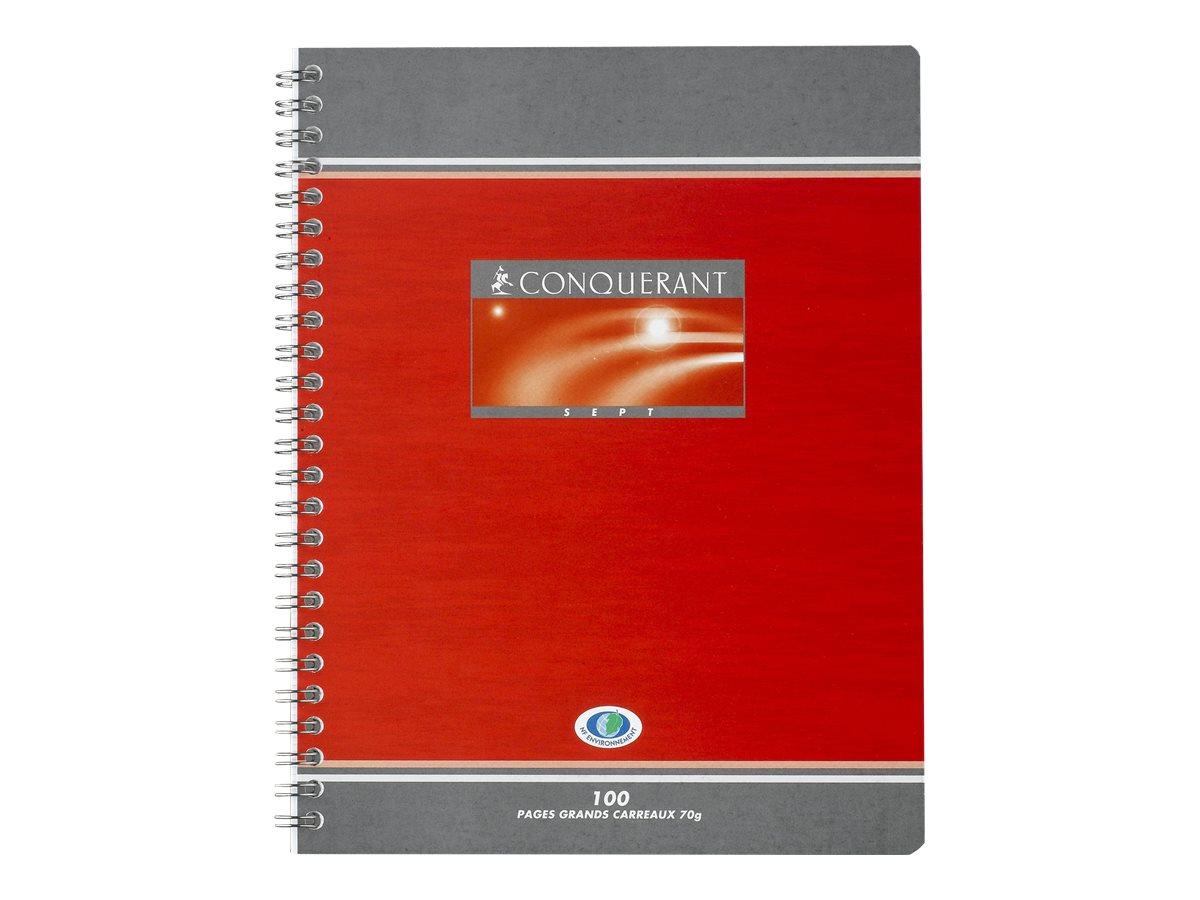 CONQUERANT SEPT - Cahier - 17 x 22 cm - 100 pages - Petits carraux