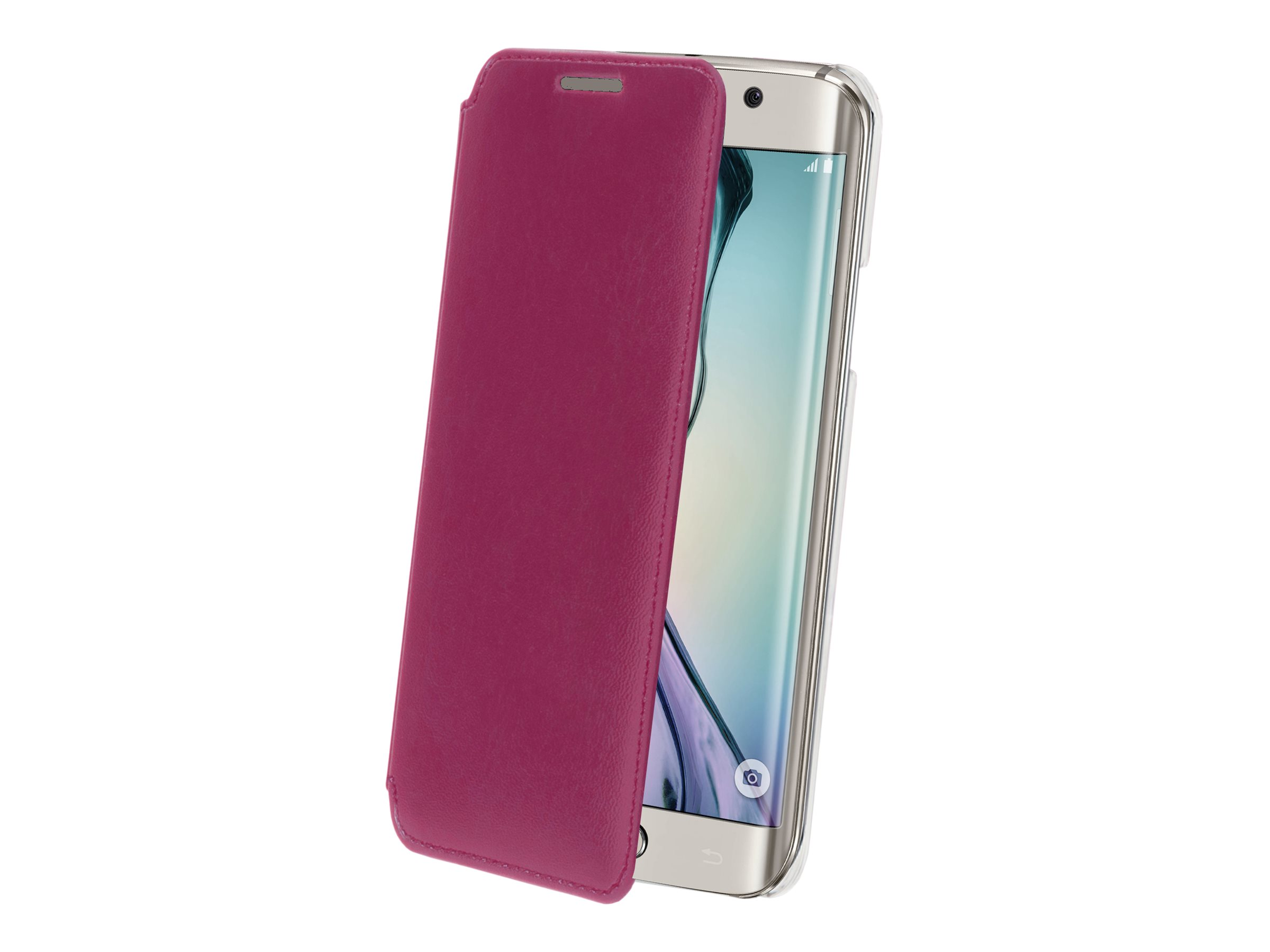 Muvit Made in Paris Crystal Folio - Protection à rabat pour Samsung GALAXY S6 Edge - Fuchsia