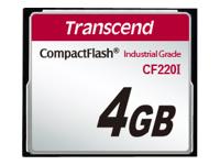 Transcend CF220I Industrial Temp - carte mémoire flash - 4 Go - CompactFlash