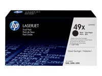 HP - LASERJET SUPPLY (5T) HP 49X Dual PackQ5949XD