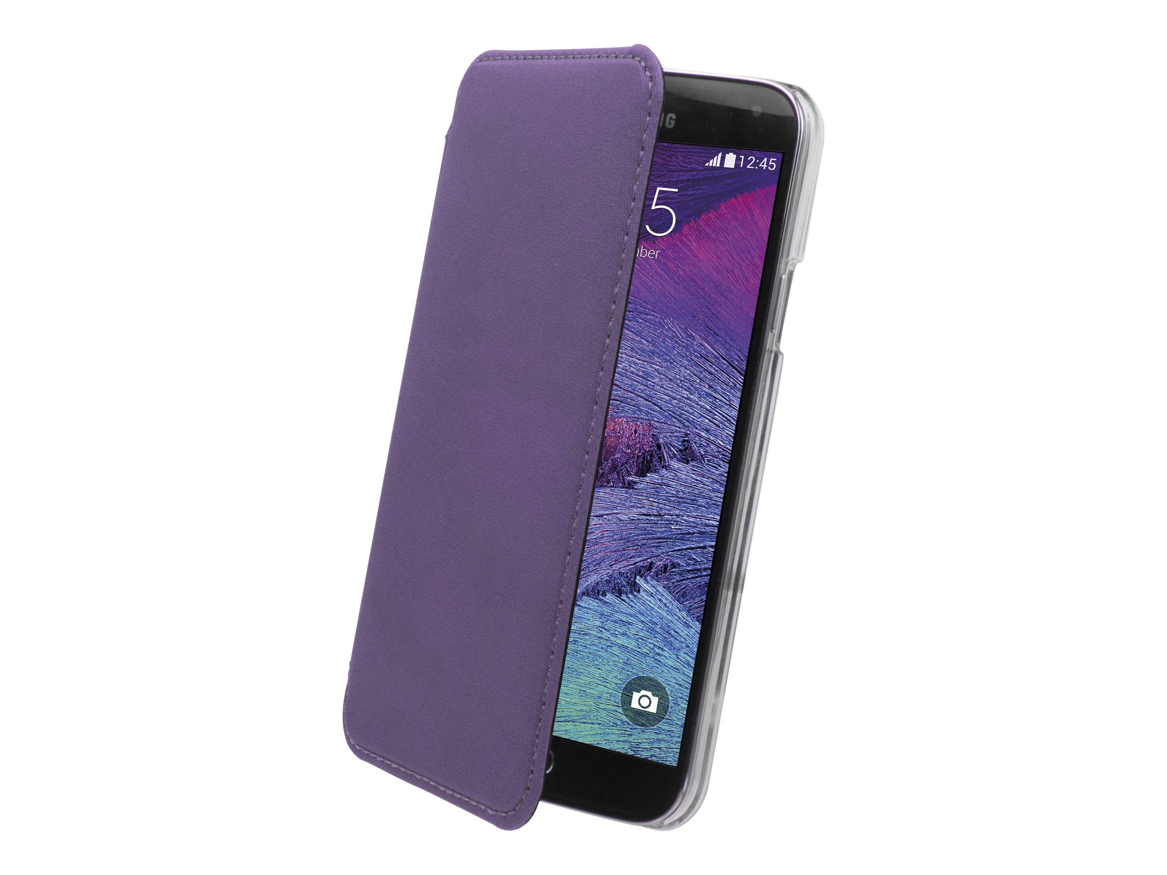 Muvit Made in Paris Crystal Folio - Protection à rabat pour Samsung GALAXY Note 4 - violet métallisé