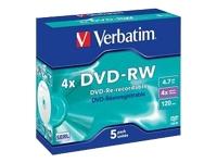 Verbatim DataLifePlus - DVD-RW x 5 - 4.7 Go - support de stockage