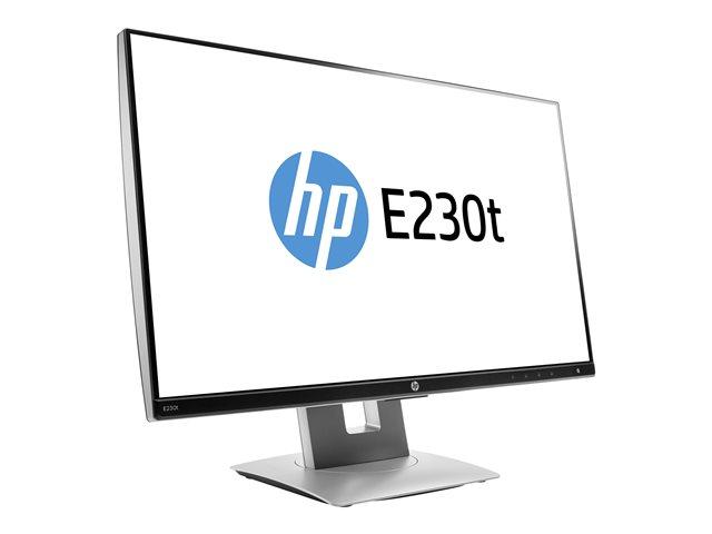 HP ELITEDISPLAY E230T 23 TOUCHSCREEN MONITOR - HEIGHT, PIVOT (ROTATION),  SWIVEL, TILT - FULL HD