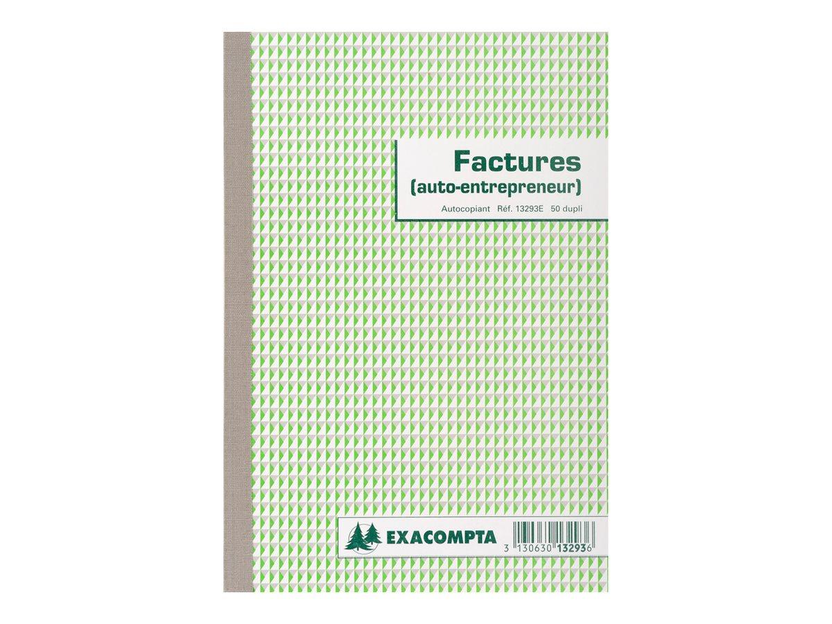 Exacompta - Livre de factures commerciales - 50 feuilles - 210 x 148 mm - en double