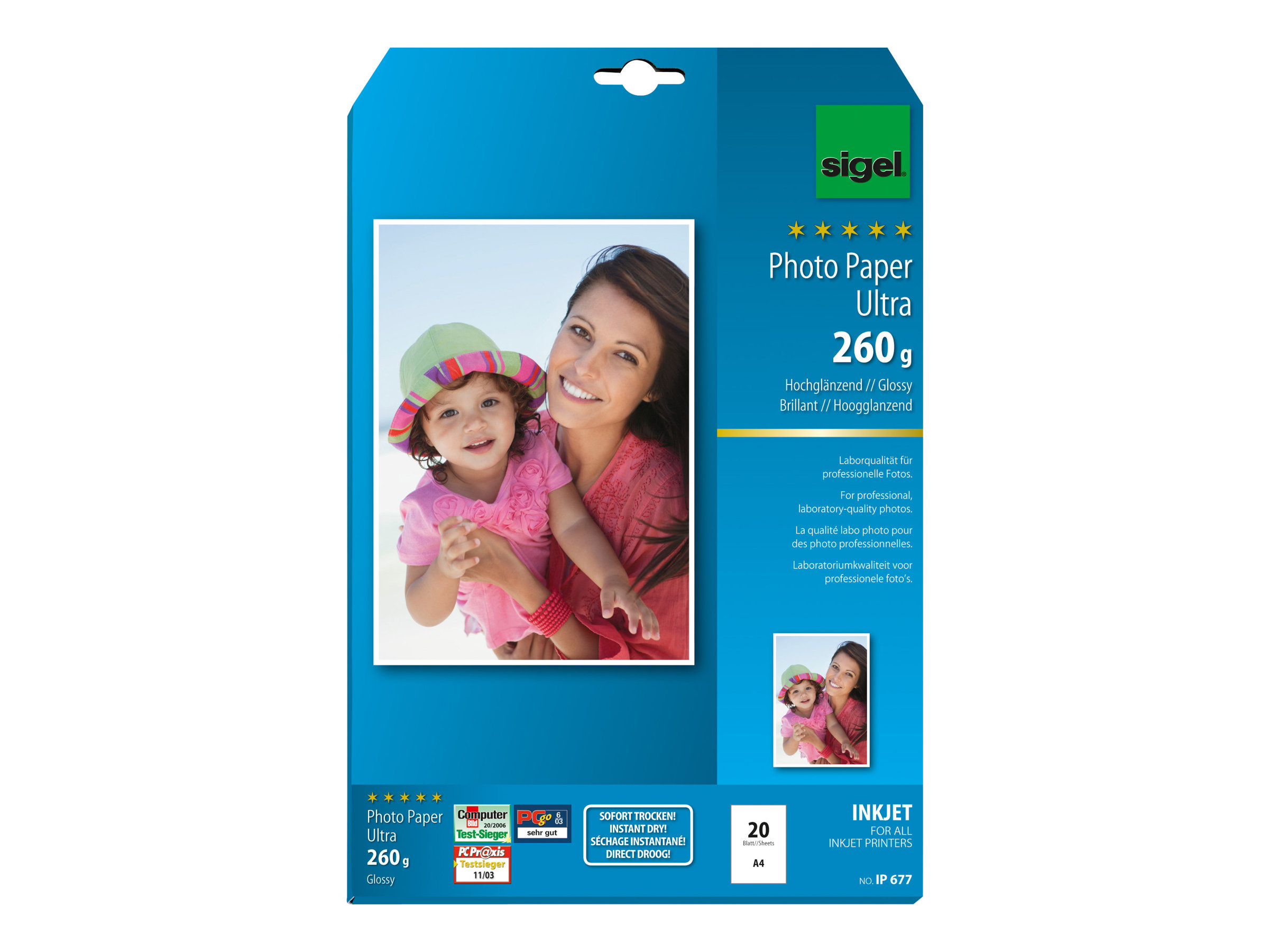 Sigel InkJet Ultra Photo Paper IP677 - papier photo brillant - 20 feuille(s)