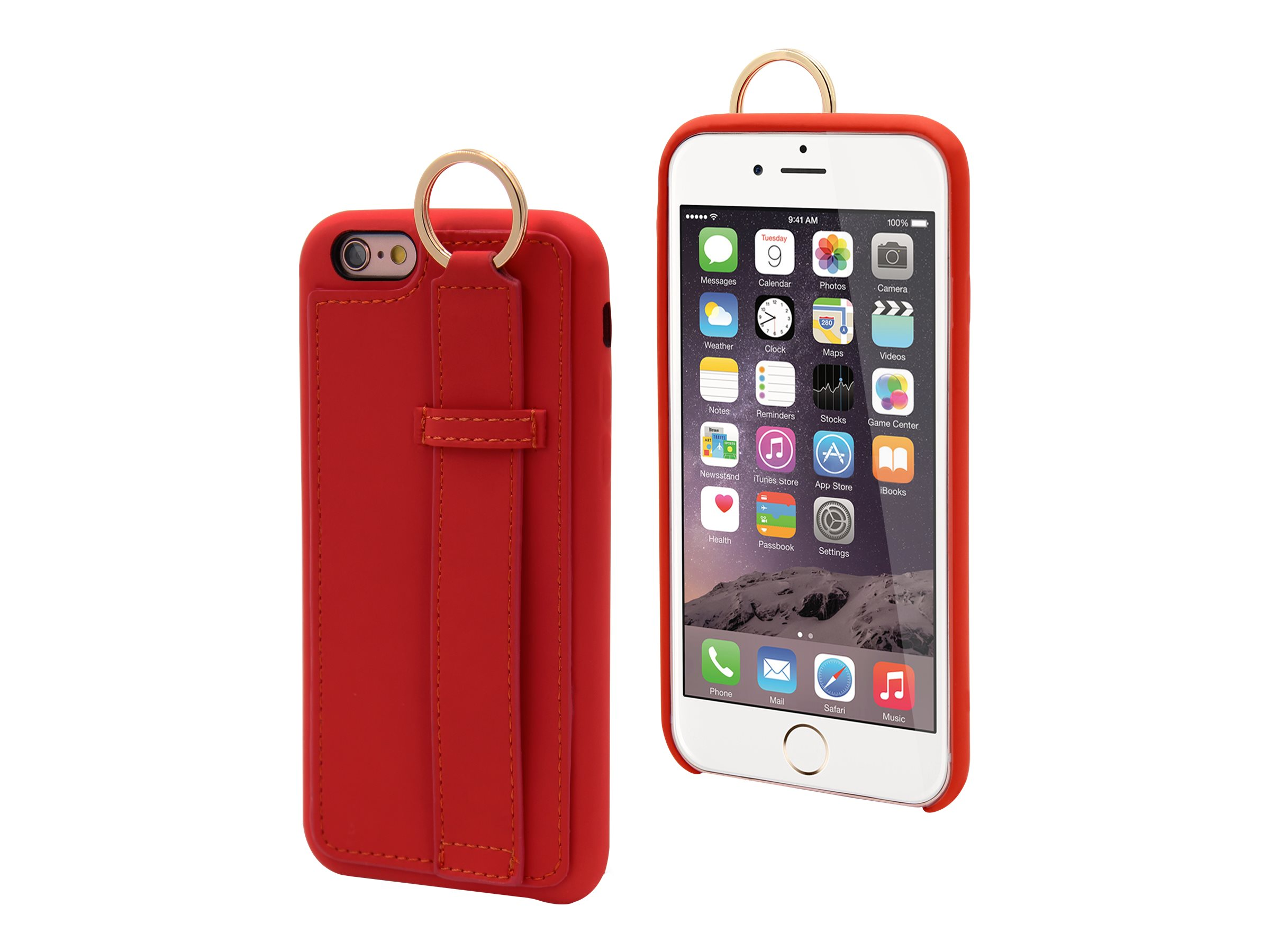 MUVIT LIFE Ring - Coque de protection pour iPhone 6, 6s - rouge