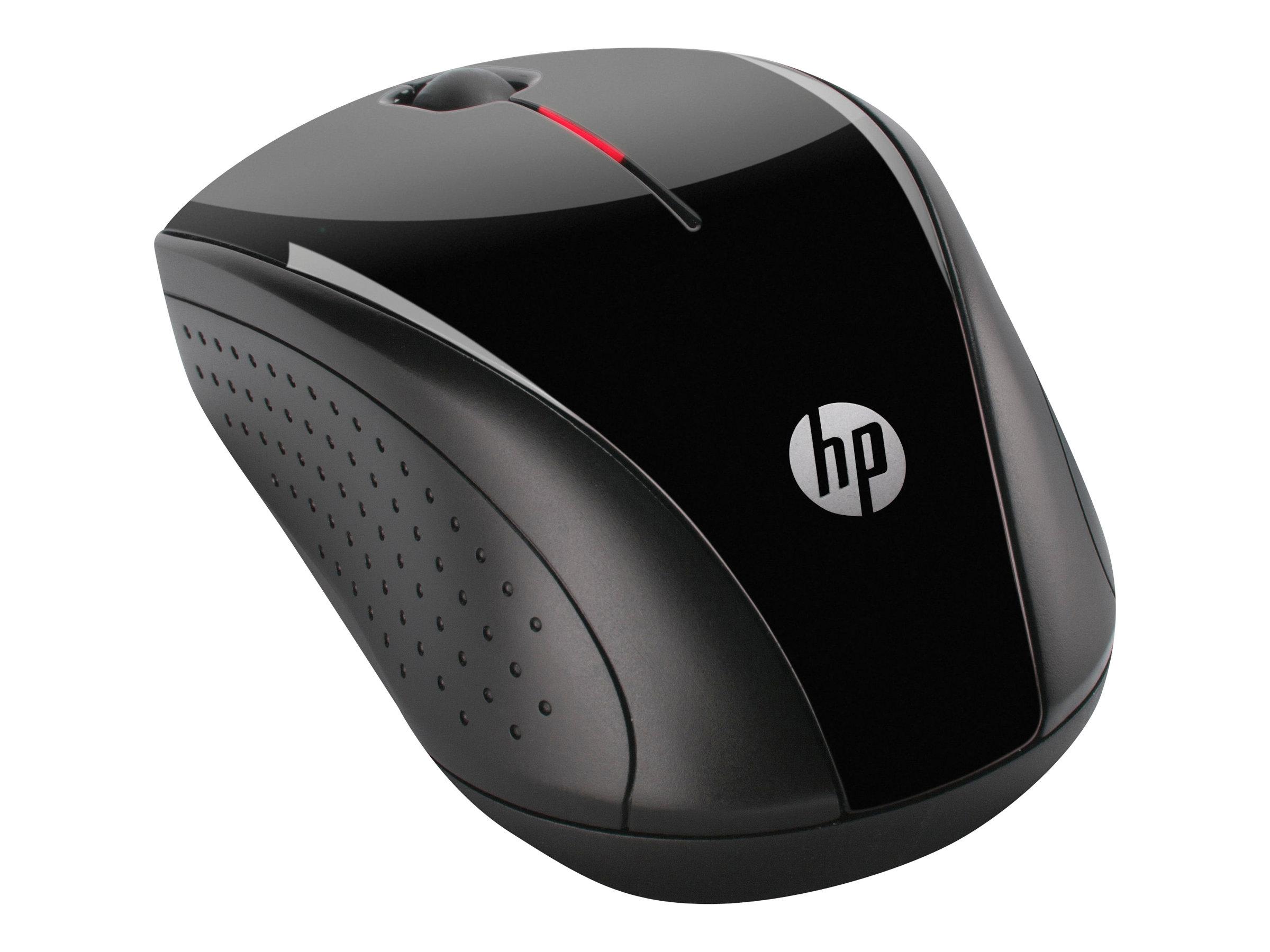 HP X3000 - souris - 2.4 GHz - gris métallisé, noir brillant