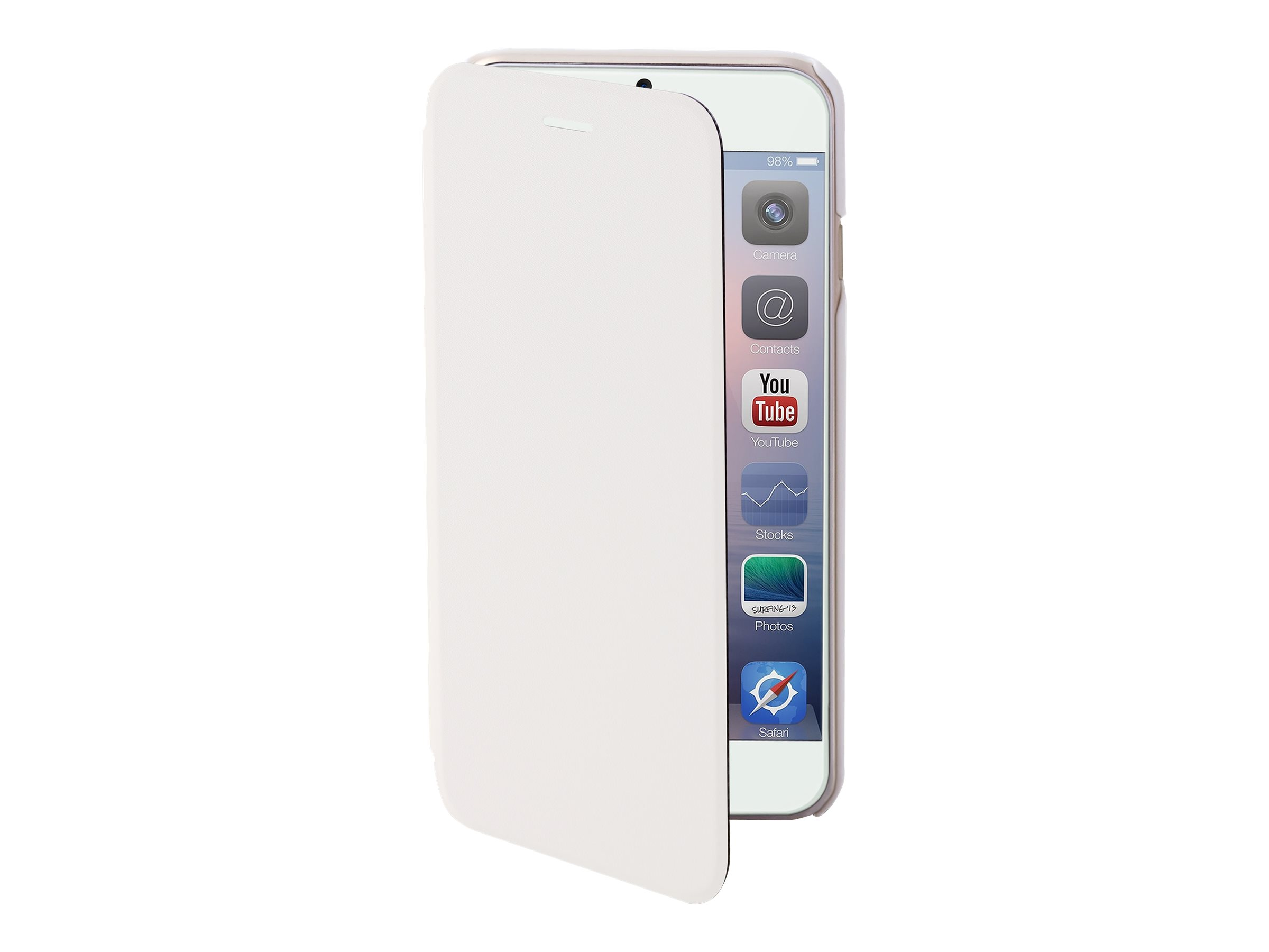 Muvit Easy Folio - Protection à rabat pour iPhone 6 Plus - blanc