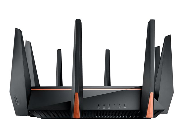 ASUS AC5300 WIRELESS MU-MIMO TRI BAND ROG ROUTER, GBE(8), USB 3 0(2),  ANT(8), 3YR WTY
