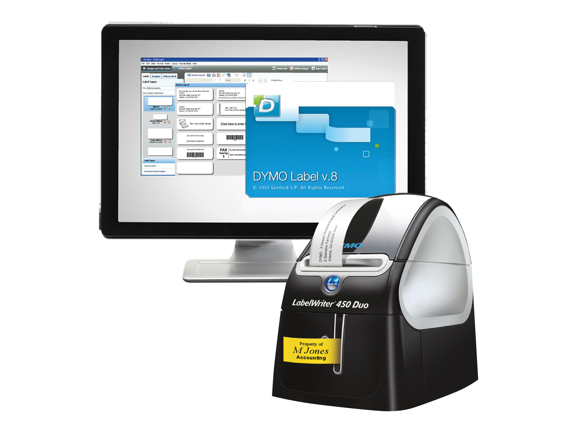 DYMO LabelWriter 450 Duo - imprimante d'étiquettes - monochrome - thermique directe