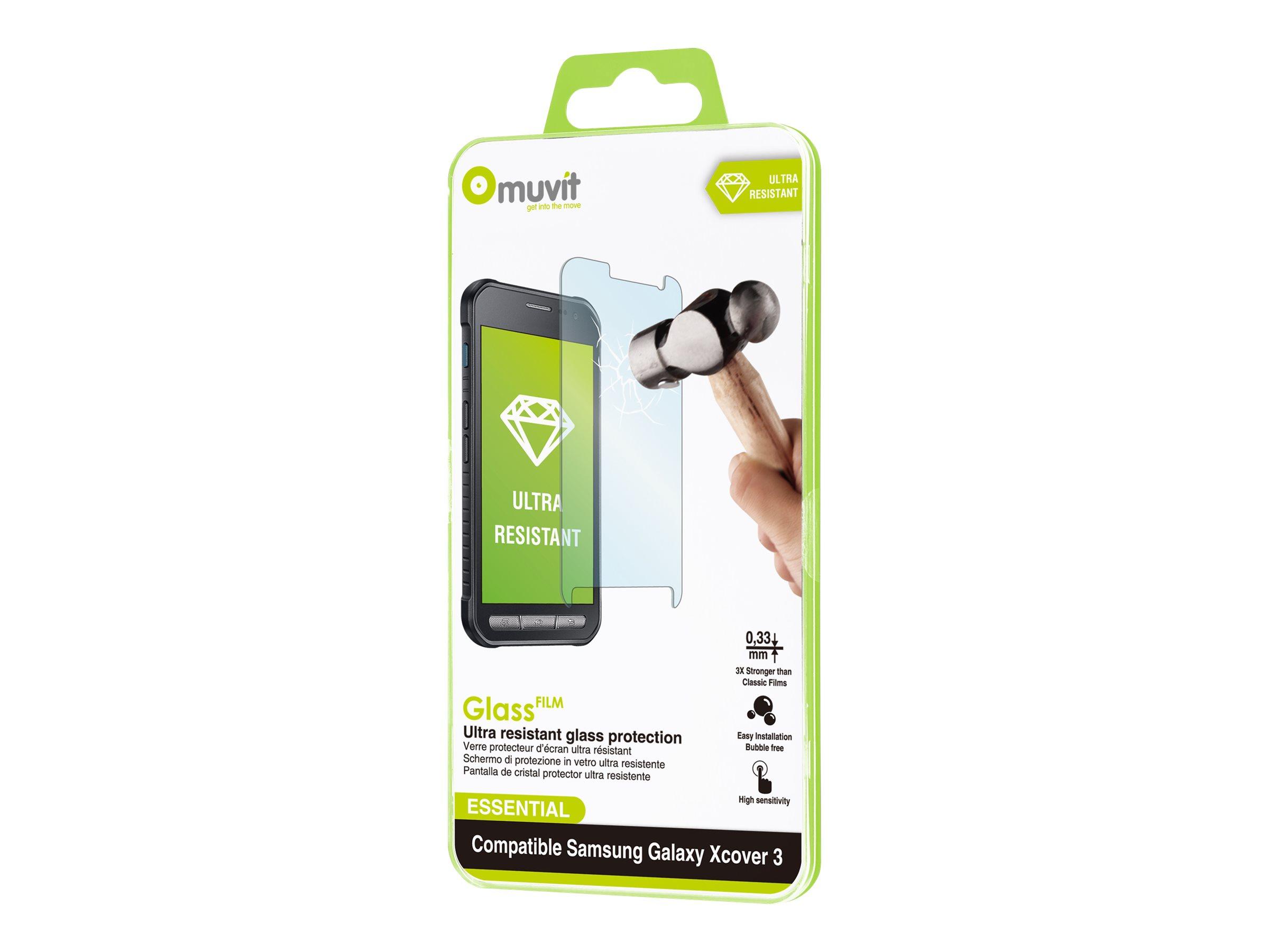 Muvit - 1 film de protection d'écran - verre trempé - pour Samsung Galaxy Xcover 3