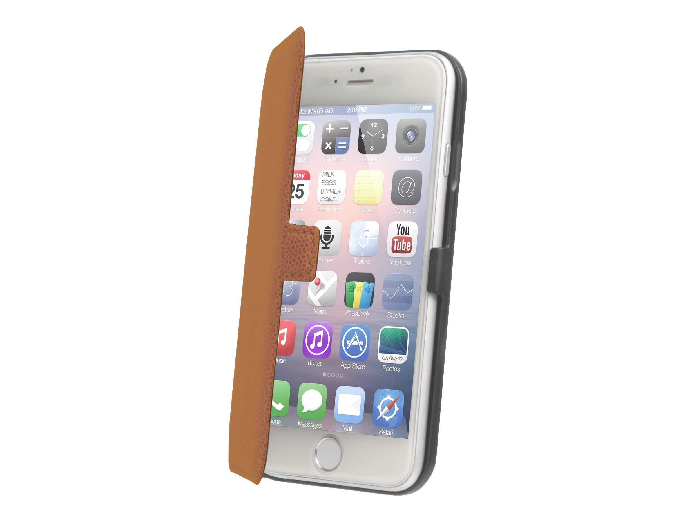 Muvit Made in Paris Slim Folio - Protection à rabat pour iPhone 6 Plus - mandarine