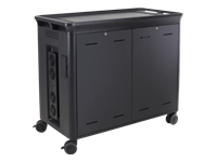 HP 30-Notebook Managed Charging Cart V2 - Cart charge and management for notebook (open architecture) - lockable - HP black - screen size: 10.1
