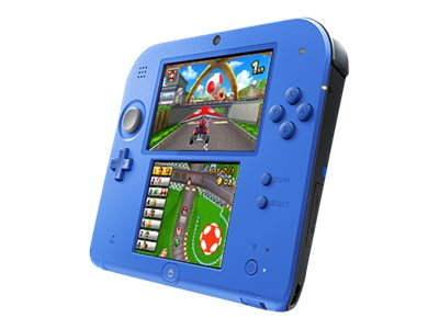 Nintendo 2DS - Handheld game console - electric blue 2 - Mario Kart 7