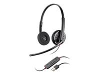 Plantronics Blackwire C320 300 Series headset på øret