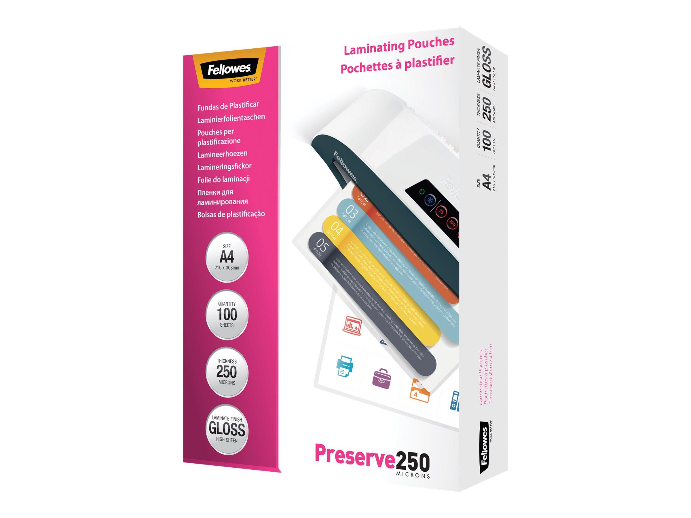 Fellowes Laminating Pouches - 125 microns pack de 100 - 54 x 86 mm pochettes plastifiées