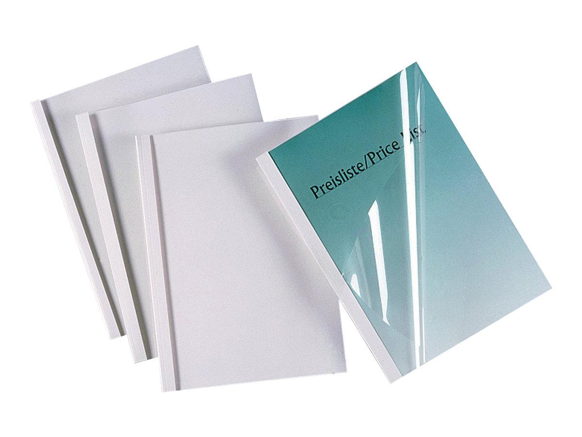 GBC - 100 couvertures à reliure thermique - 3 mm - A4 (21 x 29,7 cm) - 30 feuilles