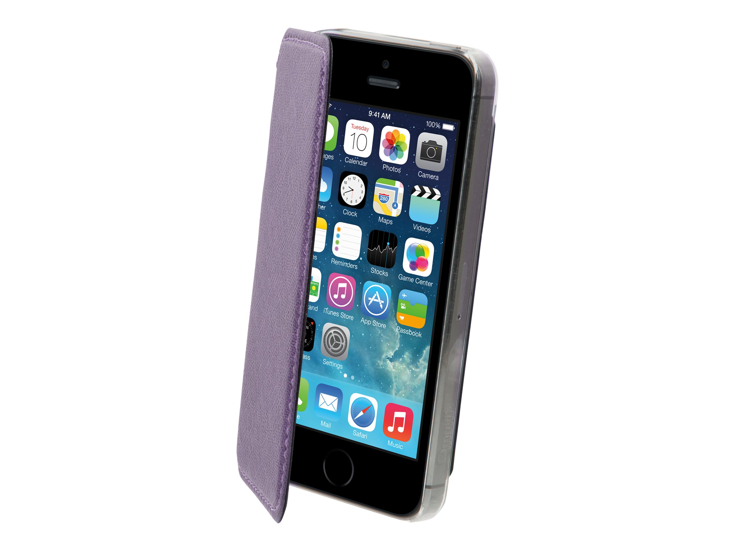 Muvit Made in Paris Crystal Folio - Boîtier de protection à rabat pour iPhone 5, 5s - cristal métallique violet