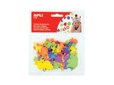 APLI kids - Forme à décorer - 100 mousses - animaux - bleu, jaune, violet, vert, orange