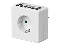 goobay Digital Timer Automatisk strøm kontakt AC 230 V hvid