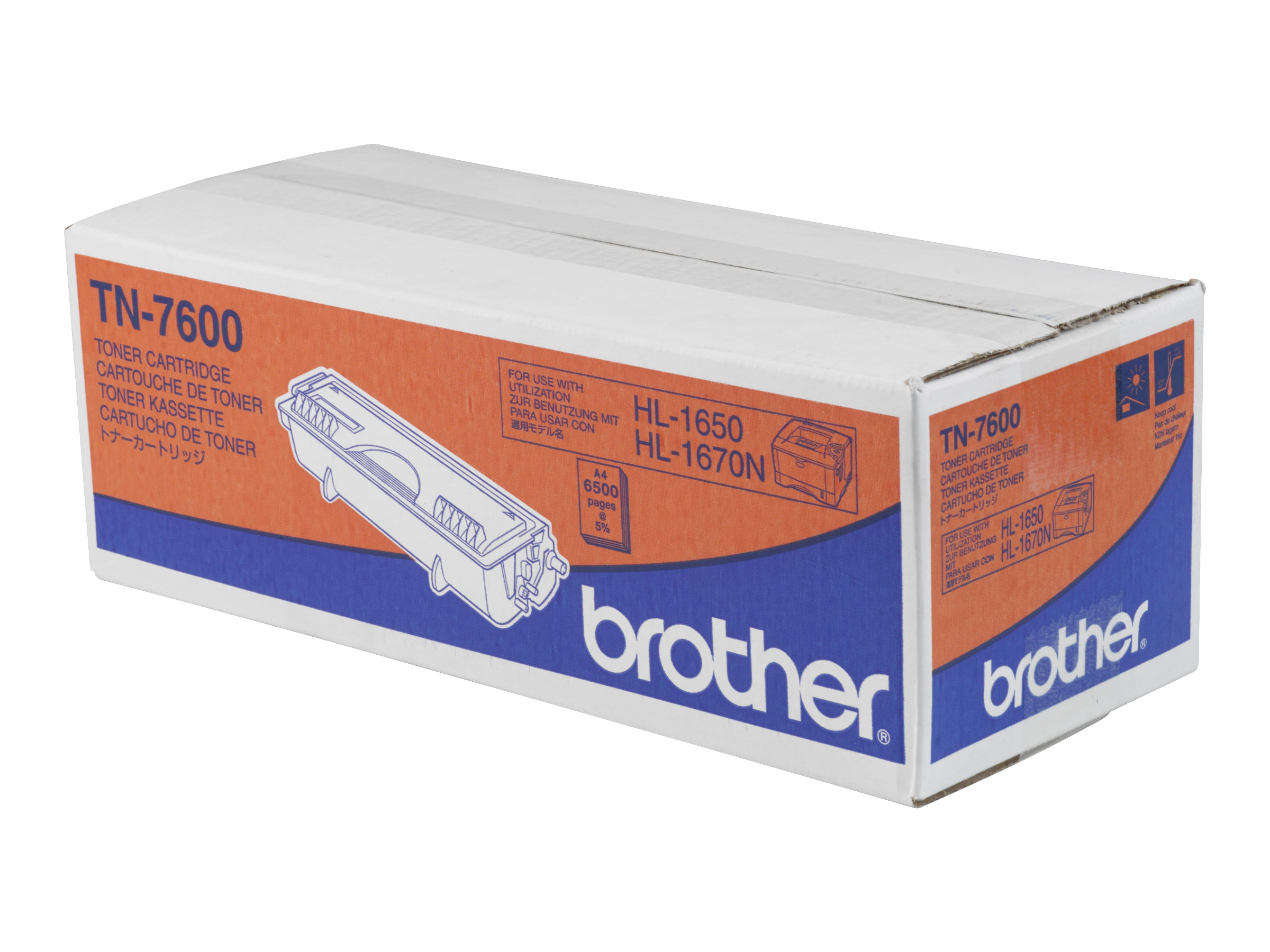 Brother TN7600 - noir - originale - cartouche de toner