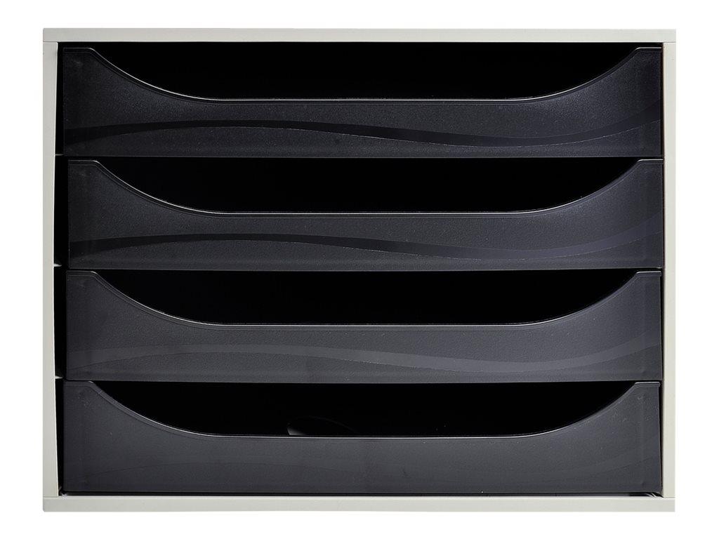 Exacompta Ecobox Classic A4+ - bloc de classement à tiroirs