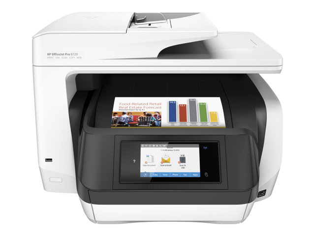 Image of HP Officejet Pro 8720 All-in-One - multifunction printer ( colour )