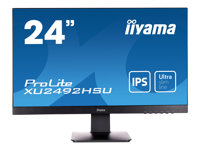 iiyama ProLite XU2492HSU-B1 24 Inch IPS, Full HD, Black, U-Slim Bezel, HDMI, Display Port, USB Hub