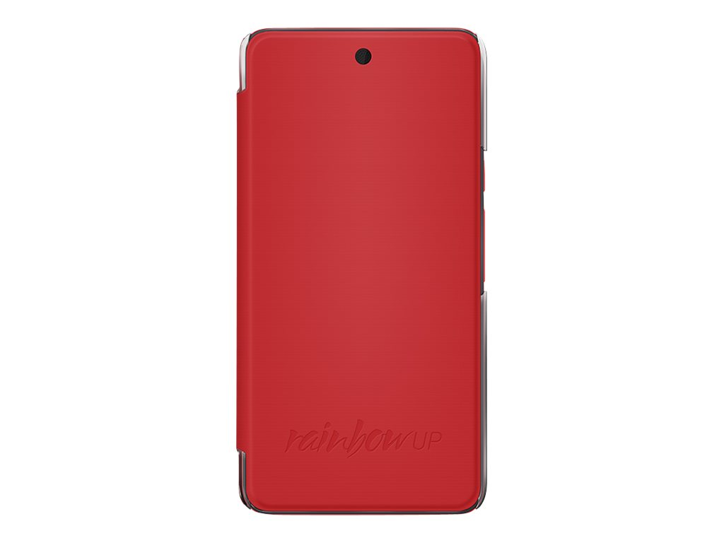 Wiko Folio - Protection à rabat pour Wiko Rainbow Up - Corail