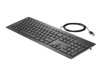HP Premium - Keyboard - USB - US - black - for Elite Slice G2; EliteDesk 705 G5, 800 G5; ProOne 400 G5, 440 G5; Workstation Z1 G5, Z2