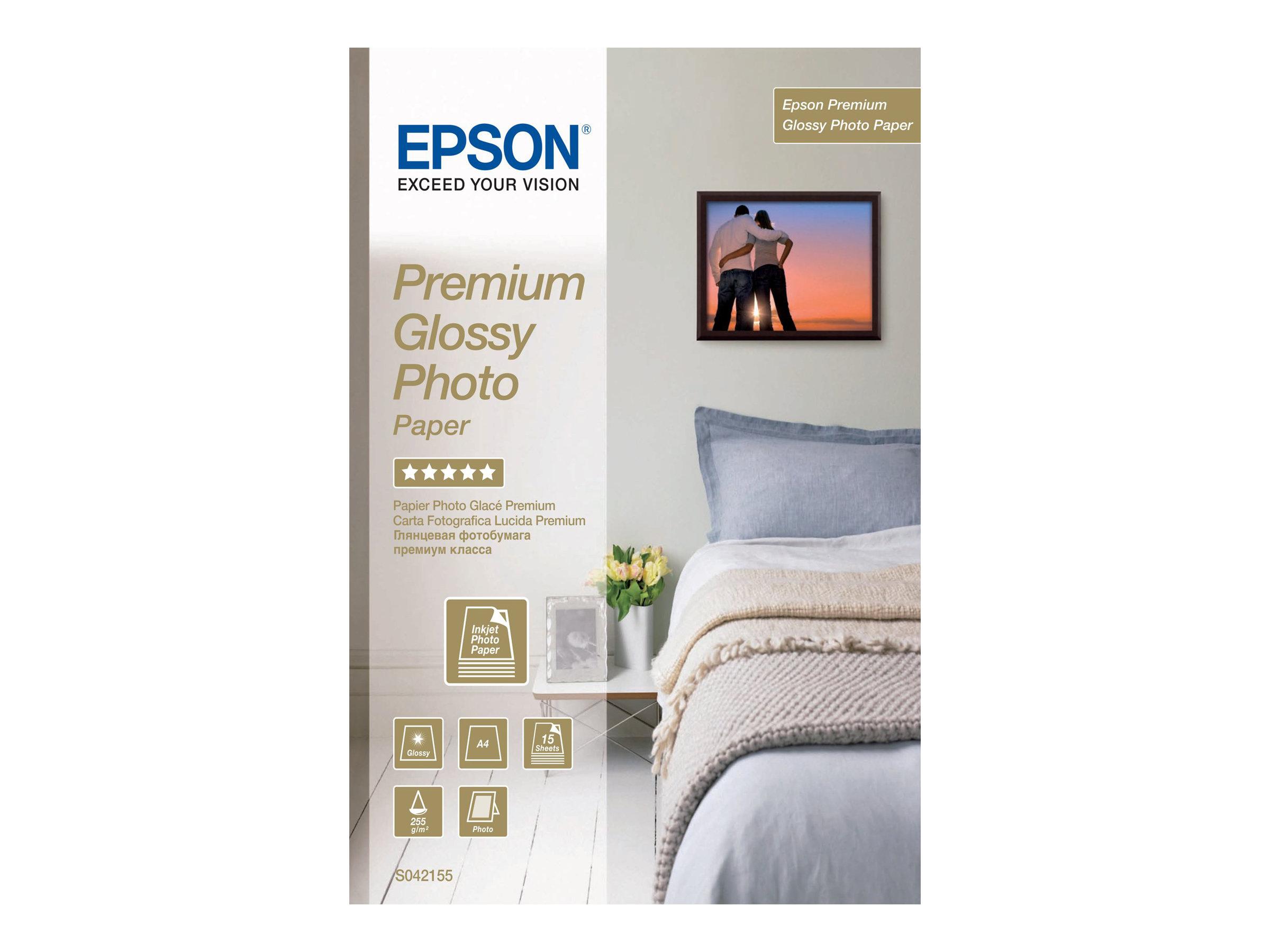 Epson Premium Glossy Photo Paper - papier photo - 15 feuille(s)