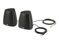HP S3100 - Speakers - for PC - 2.4 Watt (total) - black - for HP 15, 17; ENVY 13; Pavilion 13, 14, 15; Spectre Folio 13; Spectre x360