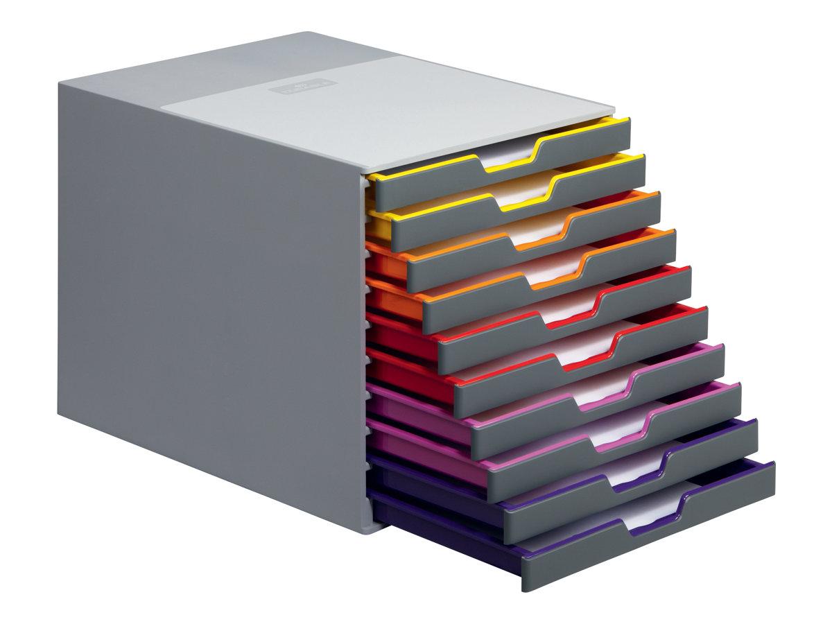 durable varicolor 10 bloc de classement tiroirs. Black Bedroom Furniture Sets. Home Design Ideas