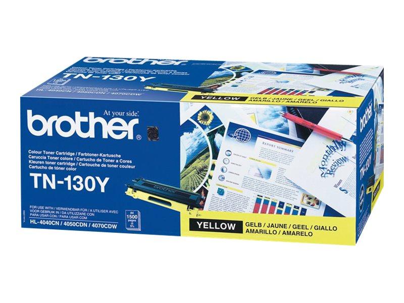 Brother TN130Y - jaune - originale - cartouche de toner