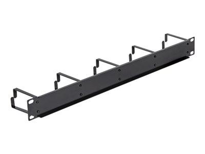 DeLOCK - Panel pro uspořádání kabelů - hluboce černá, RAL 9005 - 1U - 19