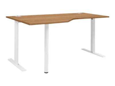 Gautier office yes bureau 160 cm avec retour 90 for Service a table a droite ou a gauche