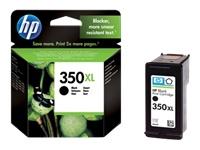 HP 350XL - à rendement élevé - noir - originale - cartouche d'encre
