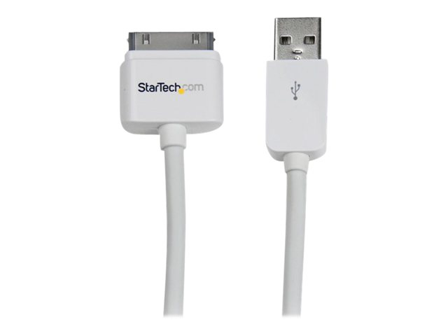 Image of StarTech.com 3m Long Apple 30-pin Dock to USB Cable iPhone iPod iPad - digital player data / power cable - 3 m