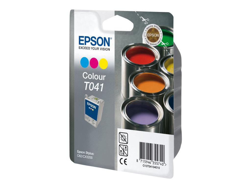 Epson T041 - couleur (cyan, magenta, jaune) - originale - cartouche d'encre