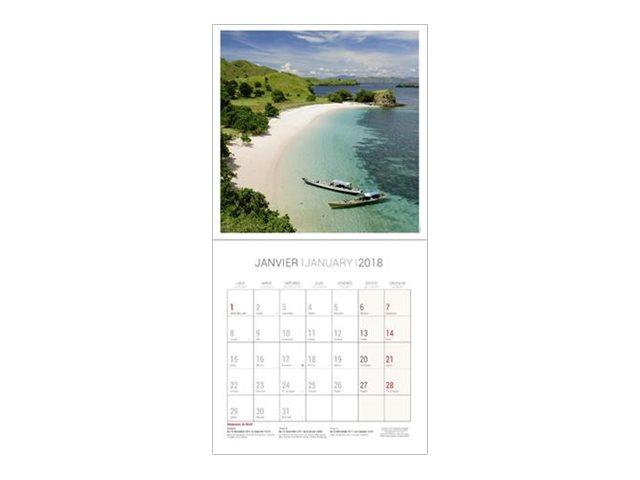CBG îles - Calendrier illustré - 2017 - mois par page - 300 x 600 mm