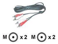 MCL Samar - Câble audio - RCA (M) pour RCA (M) - disponible en différentes tailles