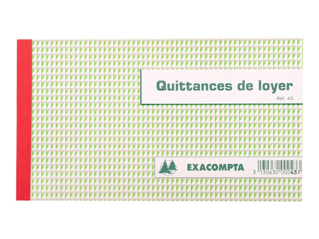 Exacompta - carnet de quittances de loyer