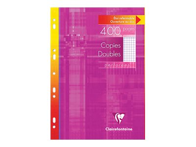 Clairefontaine Metric - A4 - Copies doubles - 21 x 29,7 - 400 pages - Petits carreaux