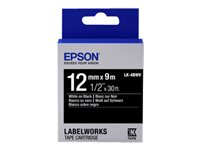 Epson LabelWorks LK-4BWV - White on black - Roll (1.2 cm x 9 m) 1 roll(s) label tape